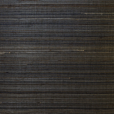Sample Abaca Grasscloth Wallpaper in Midnight Galaxy from the Luxe Retreat Collection by Seabrook Wallcoverings