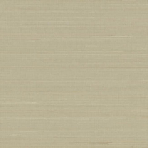 Abaca Weave Wallpaper in Beige by Antonina Vella for York Wallcoverings