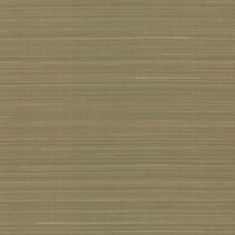 Sample Abaca Weave Wallpaper in Sand by Antonina Vella for York Wallcoverings