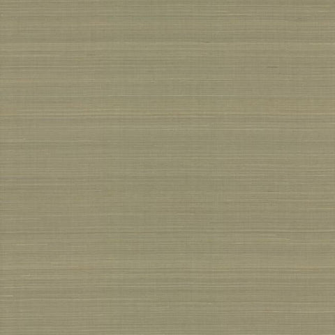 Sample Abaca Weave Wallpaper in Taupe by Antonina Vella for York Wallcoverings