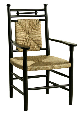 Abigail Dining Arm Chair in Black design by Redford House - BURKE DECOR
