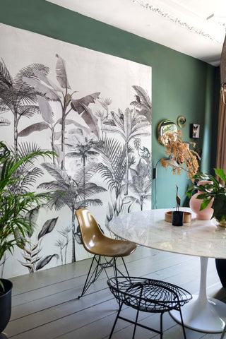 Above the Tropics Wall Mural in Grey by Walls Republic