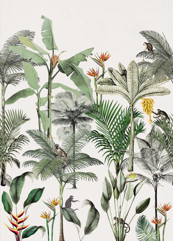 Above the Tropics Wall Mural in White by Walls Republic