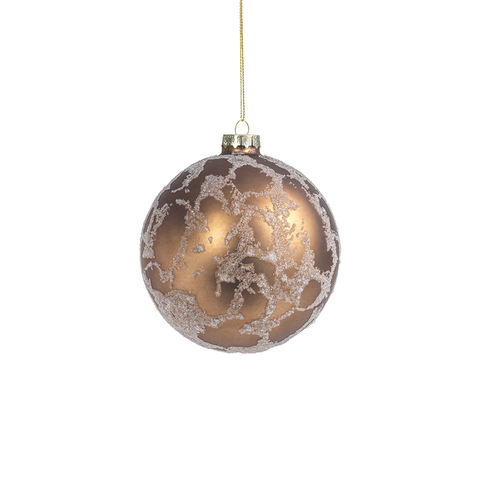 Abstract Beaded Hanging Copper Ball Ornament