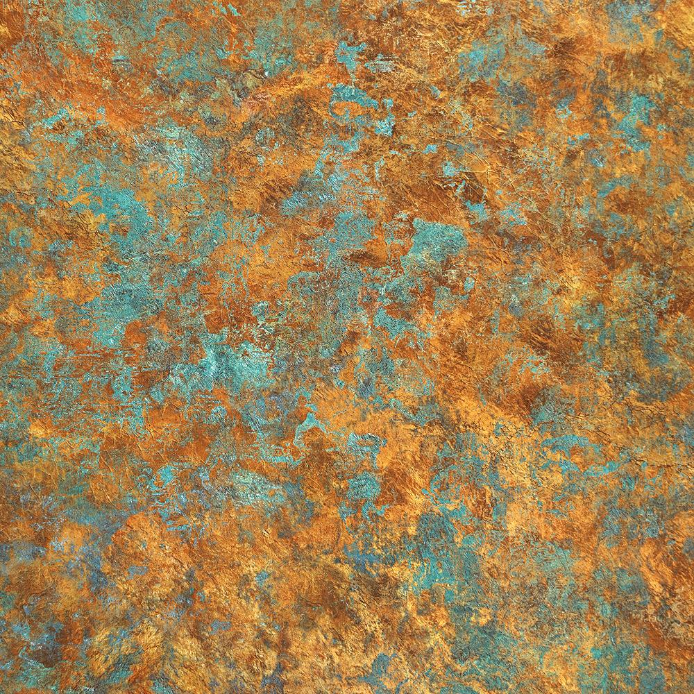 Abstract Crackle Wallpaper in Bronze and Blue from the Precious Elements Collection by Burke Decor