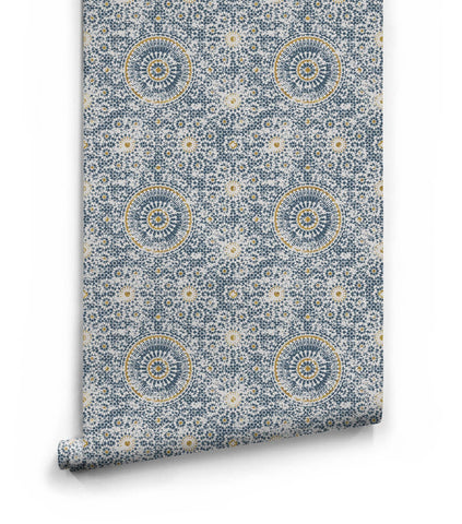 Abu Dhabi Wallpaper in Babylon from the Kingdom Home Collection by Milton & King