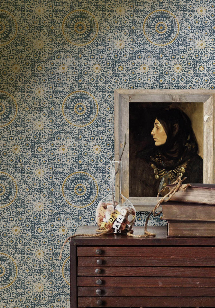 Abu dhabi wallpaper in babylon from the kingdom home for Home wallpaper collection
