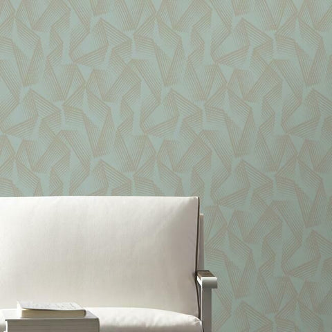Acceleration Peel & Stick Wallpaper in Teal and Gold by RoomMates for York Wallcoverings