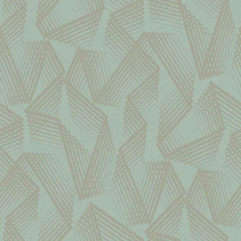 Sample Acceleration Peel & Stick Wallpaper in Teal and Gold by RoomMates for York Wallcoverings