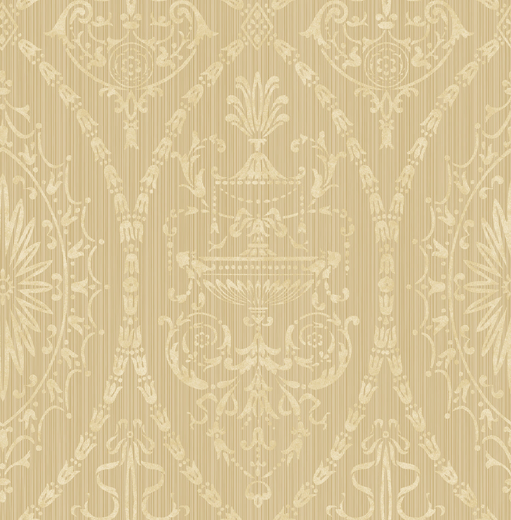 Adams Wallpaper in Beige from the Watercolor Florals Collection by Mayflower Wallpaper