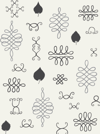 Sample After Chinterwink Wallpaper in Cream, Silver, and Charcoal design by Juju