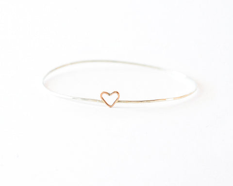 Junibel Sweetheart Bangle Bracelet design by Agapantha