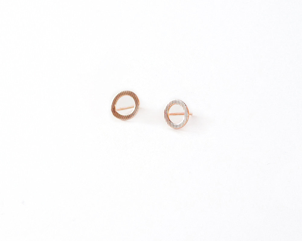 Jill Textured Circle Studs design by Agapantha