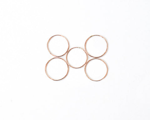 Hammered Stacking Ring design by Agapantha