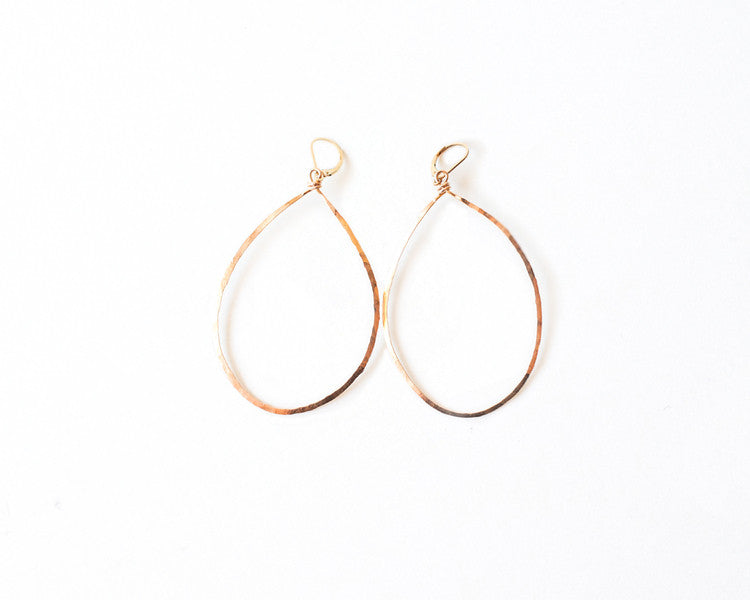 Hanna Hammered Hoop Earrings design by Agapantha