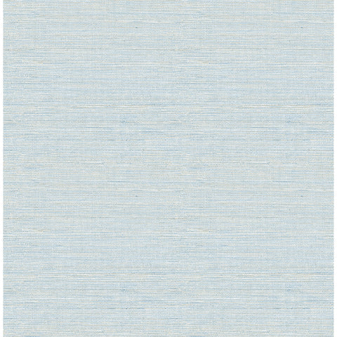 Agave Imitation Grasscloth Wallpaper in Blue from the Pacifica Collection by Brewster Home Fashions