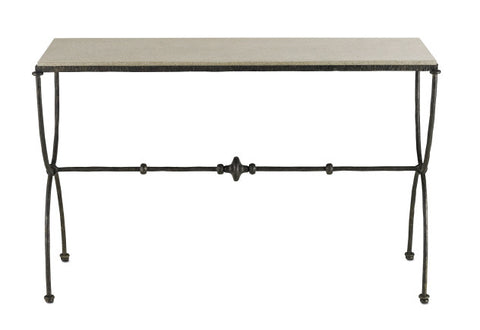 Agora Console Table design by Currey & Company - BURKE DECOR