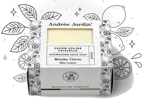 Andrée Jardin Solid Dish Washing Soap - Lemon Mint