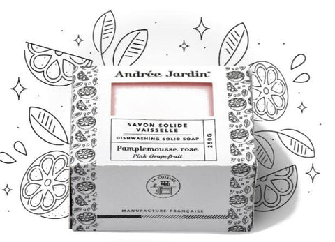 Andrée Jardin Solid Dish Washing Soap - Grapefruit Rose