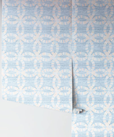Alabama Wallpaper in Opal by Sixhands for Milton & King