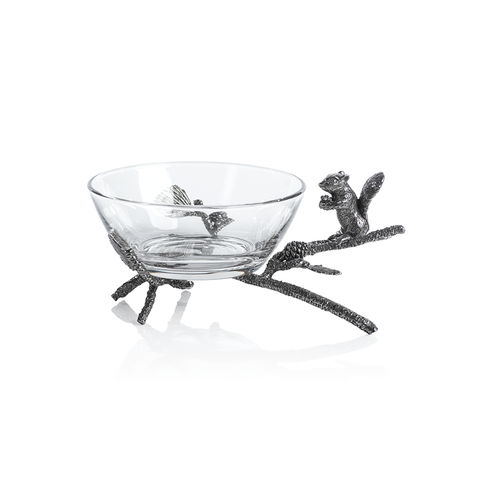 Alberg Squirrel Glass Decorative Bowl