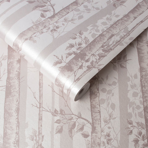 Albero Wallpaper in Blush from the Exclusives Collection by Graham & Brown