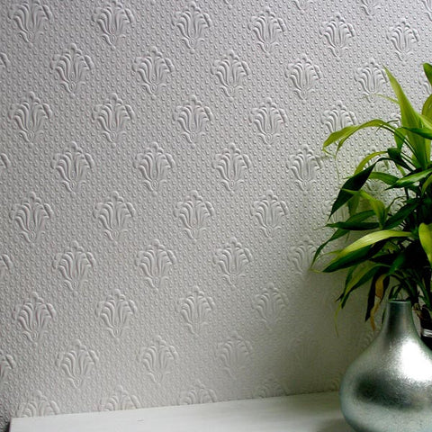 Albert Paintable Supaglypta Wallpaper Design By Brewster Home Fashions ...