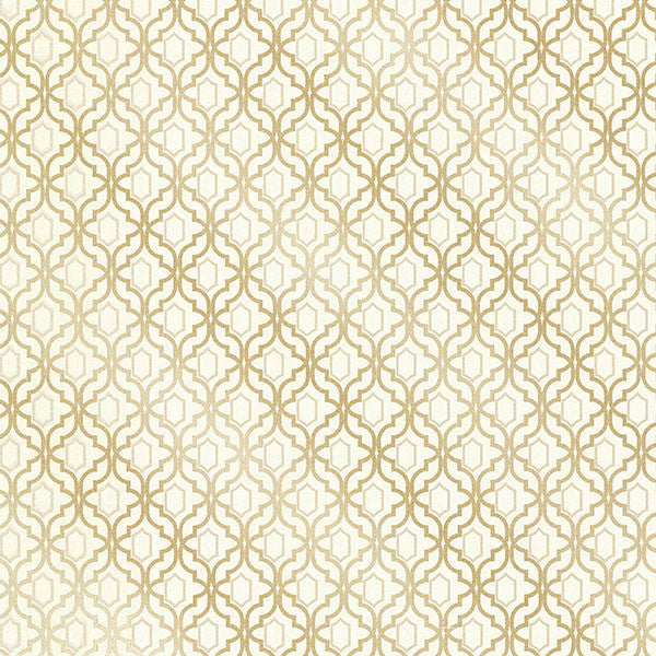 Alcazaba Gold Trellis Wallpaper from the Alhambra Collection by Brewster Home Fashions