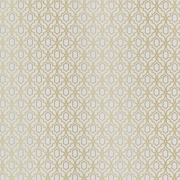 Sample Alcazaba Taupe Trellis Wallpaper from the Alhambra Collection by Brewster Home Fashions