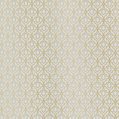 Alcazaba Taupe Trellis Wallpaper from the Alhambra Collection by Brewster Home Fashions