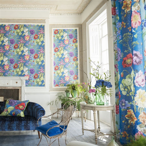 Alexandria Wallpaper in Lapis from the Edit Vol. 1 Collection by Designers Guild