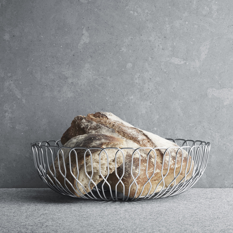 Alfredo Wire Form Bread Basket