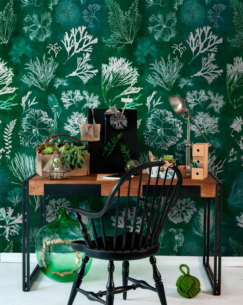 Algae Wallpaper in Moss from the Atoll Collection by Mind the Gap