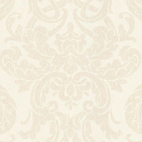 Alimos Champagne Damask Wallpaper from the Savor Collection by Brewster Home Fashions