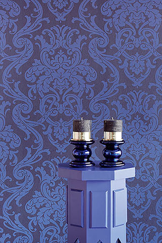 Alimos Damask Wallpaper from the Savor Collection by Brewster Home Fashions
