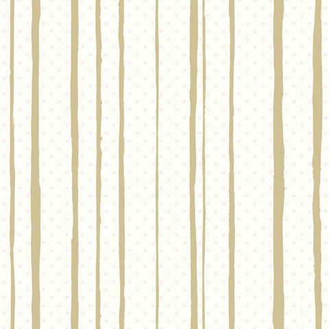 Sample All Mixed Up Peel & Stick Wallpaper in Pink and Gold by RoomMates for York Wallcoverings