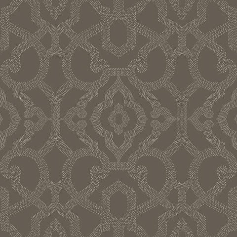 Sample Allure Wallpaper in Charcoal design by Candice Olson for York Wallcoverings