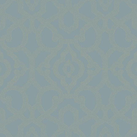Sample Allure Wallpaper in Dark Blue design by Candice Olson for York Wallcoverings