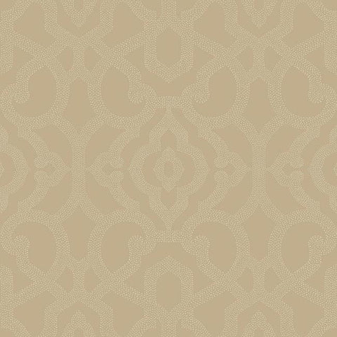 Sample Allure Wallpaper in Gold design by Candice Olson for York Wallcoverings