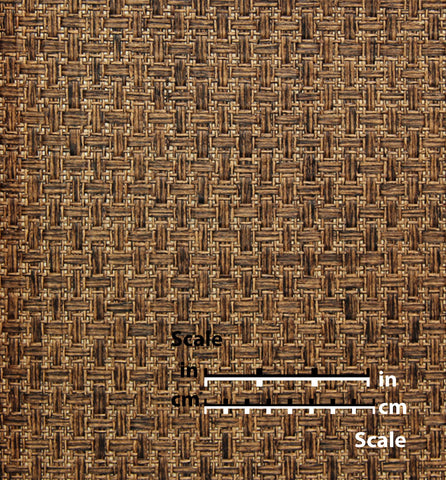 Sample Almond Brown Cross Hatch Natural Wallpaper by Burke Decor