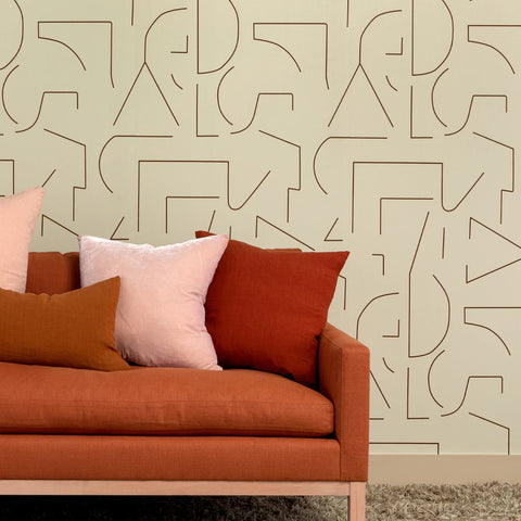 Almost Shapes Wallpaper in Bone by Hawkins New York
