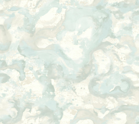 Sample Aloft Wallpaper in Blue from the Candice Olson Journey Collection by York Wallcoverings