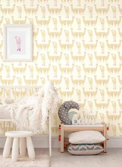 Alpaca Pack Wallpaper from the A Perfect World Collection by York Wallcoverings