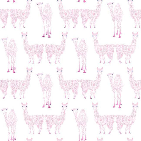 Sample Alpaca Pack Wallpaper in Pink from the A Perfect World Collection by York Wallcoverings