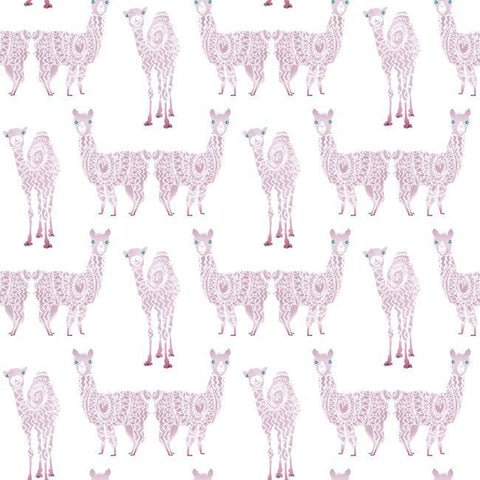 Sample Alpaca Pack Wallpaper in Purple from the A Perfect World Collection by York Wallcoverings