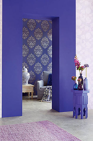 . Blue Wallpaper For Walls   Teal and Navy Blue Wall Patterns   BURKE