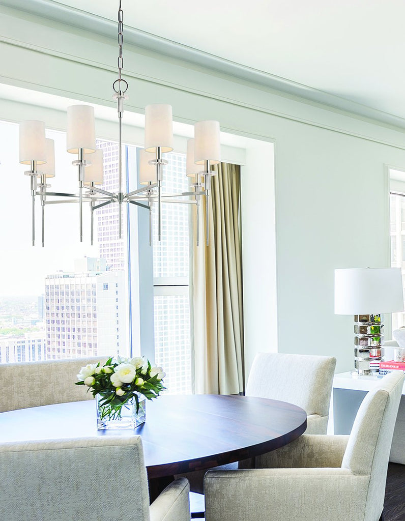 Amherst 8 Light Chandelier by Hudson Valley Lighting