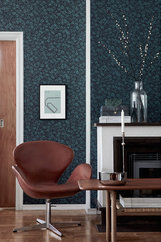 Amorina Leaf Wallpaper from the Scandinavian Designers II Collection by Brewster