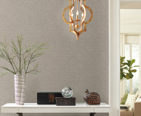 Amulet Wallpaper in Chestnut from the Moderne Collection by Stacy Garcia for York Wallcoverings