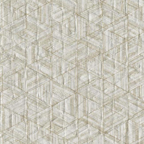 Sample Amulet Wallpaper in Chestnut from the Moderne Collection by Stacy Garcia for York Wallcoverings